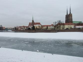The frozen Oder
